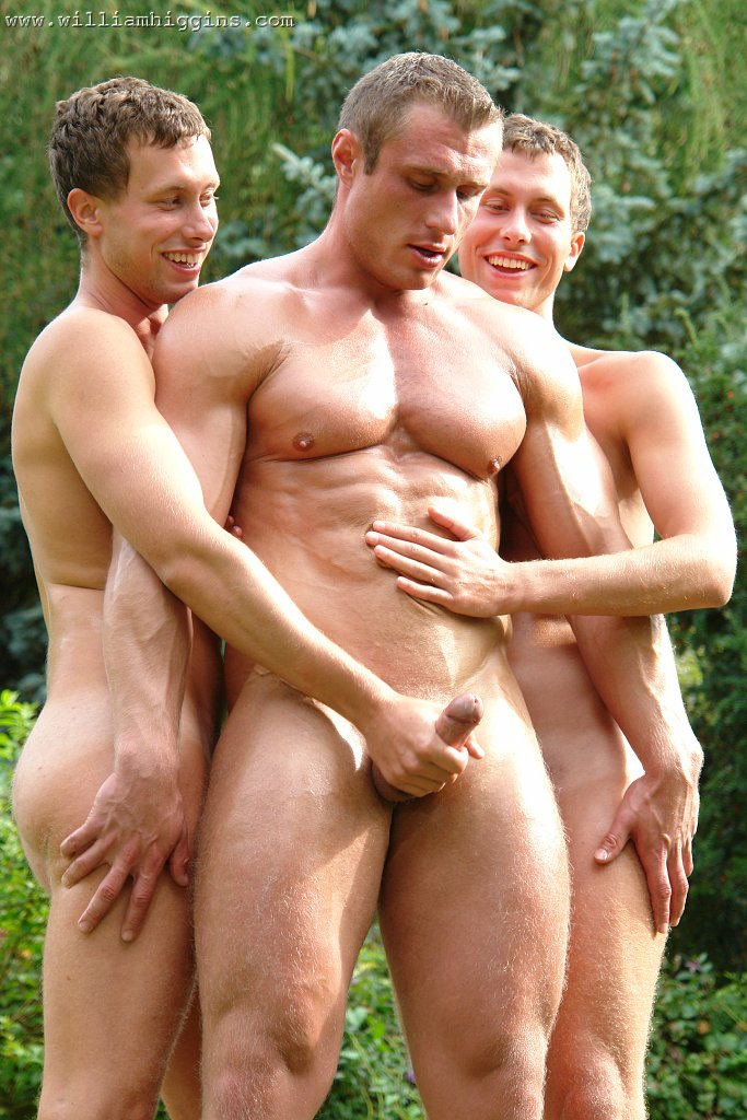 Hot gay men having group sex with young