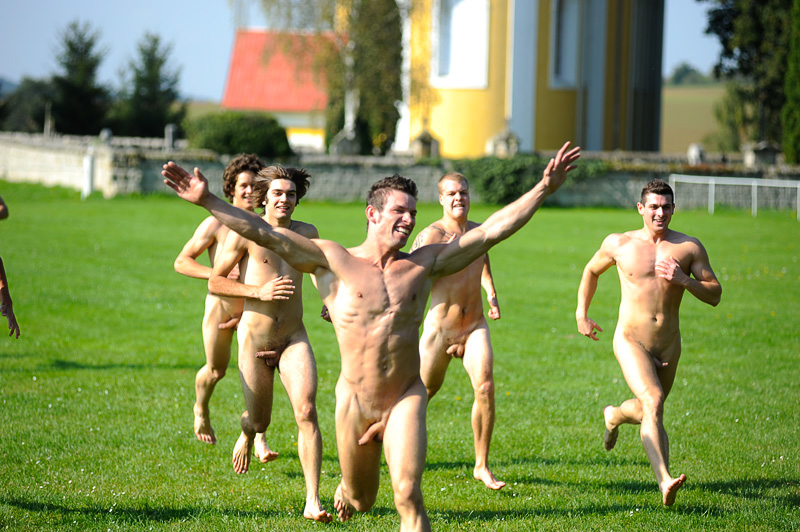 Men Running Nude Video